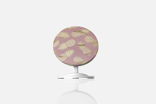 Blush + Gold Pineapples Wireless Charger