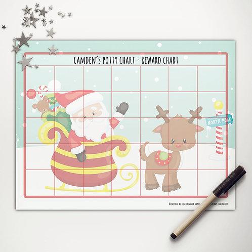 Santa + Rudolph Basic Reward Chart (light skin)