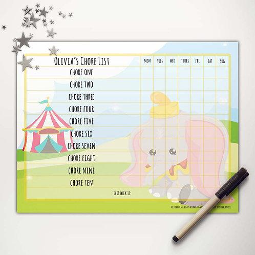 Flying Elephant Basic Chore Chart