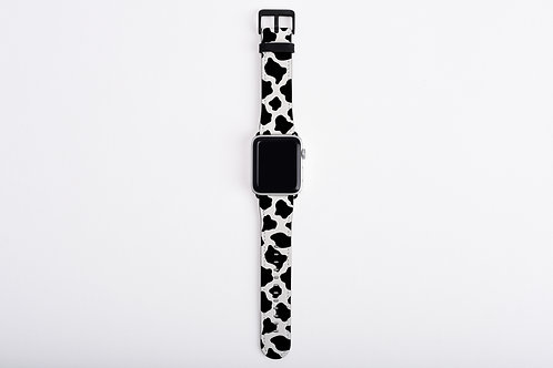 Cow Print Designer Apple Watch Band