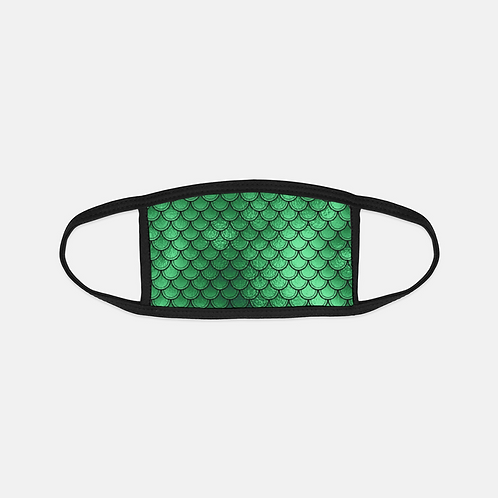 Emerald Luck Mermaid Scales Black Edge Face Cover