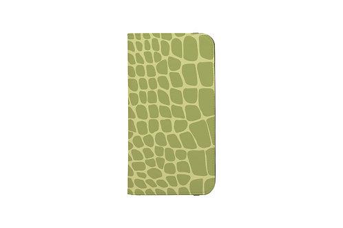 Crocodile Print Folio Wallet Case