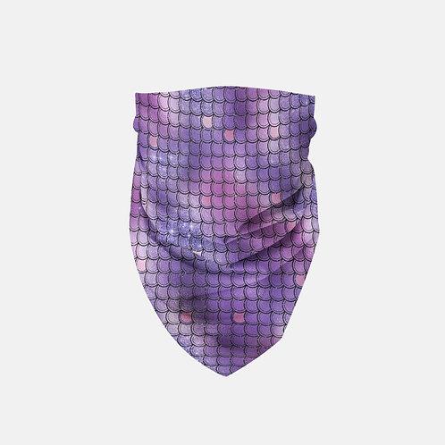 Indigo Glittered Mermaid Scales Designer Bandana