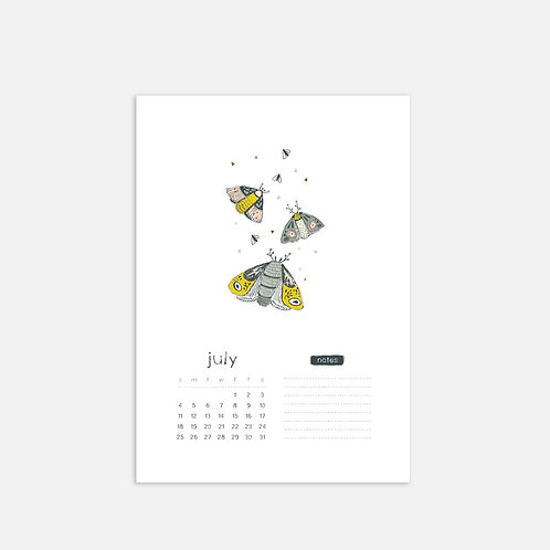 Whimsical Ye.07 Monthly Full Sheet Calendar