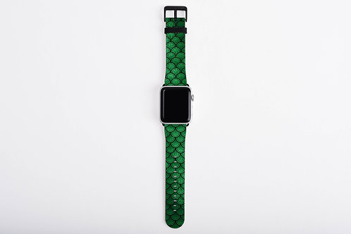 Emerald Luck Mermaid Scales Designer Apple Watch Band