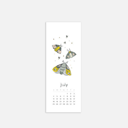 Whimsical Ye. July 2021 Half Sheet Calendar