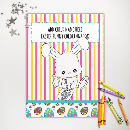 Easter Bunny Surprise Coloring Book Pages