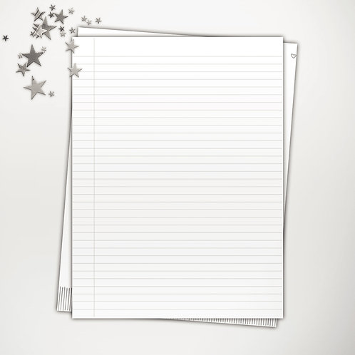 Lined Paper Smaller Spacing PowerPoint Template