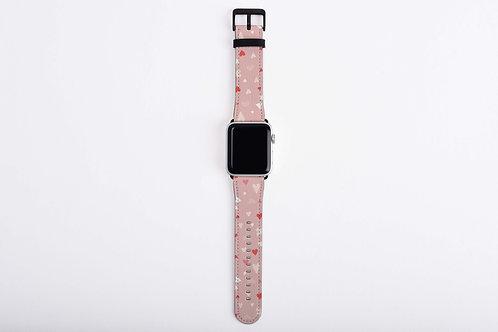 Galentine Confetti Hearts Apple Watch Band