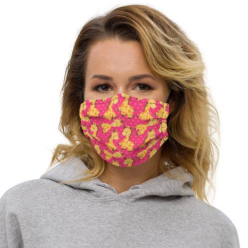 Bab Giraffe Pinkish Premium Face Cover with Pocket