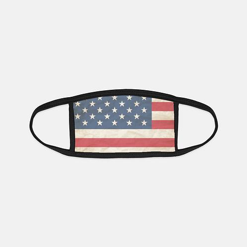 Patriotic United States Flag Black Edge Face Cover