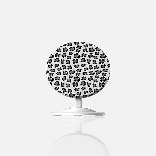 Snow Leopard Print Wireless Charger