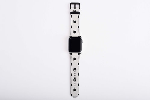 Black + White Trendy Arrows Apple Watch Band