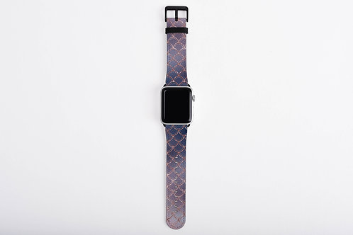 Blush + Navy Ombre Mermaid Scales Designer Apple Watch Band