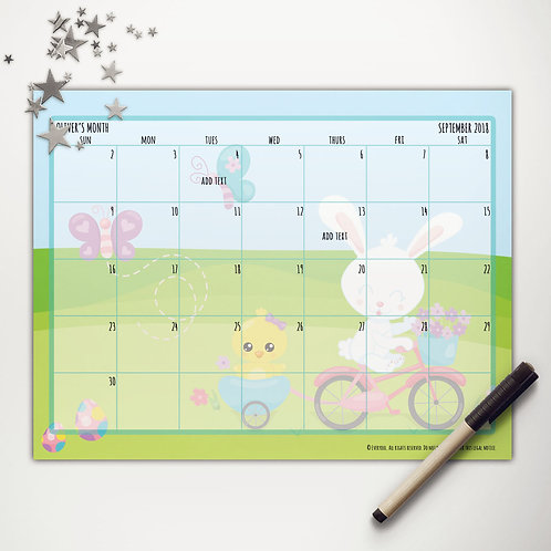 Easter Ride Monthly Calendar
