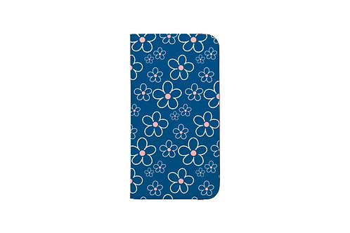 Best Spring Ever Floral Blue Folio Wallet Case