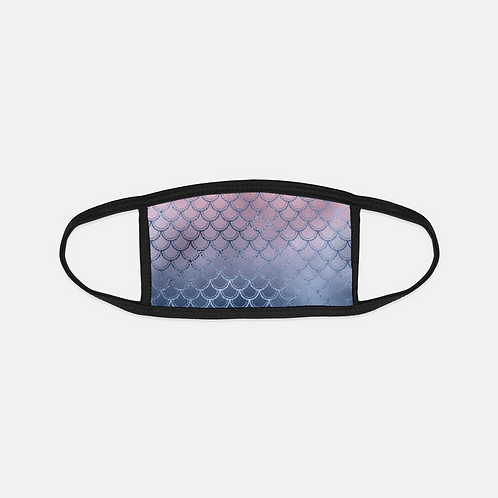Blush + Navy Magic Mermaid Scales Black Edge Face Cover