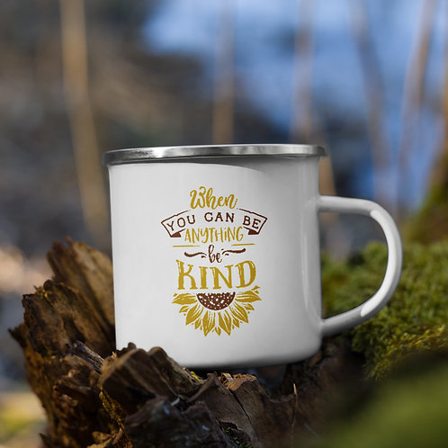 When You Can Be Anything Be Kind Sunflower Vol. 1 Camp Mug