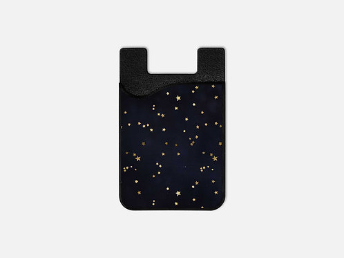 Navy + Gold Stars Card Holder