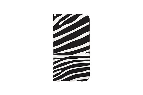 Zebra Print Folio Wallet Case
