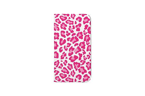 Valentine Pink Leopard Print Folio Wallet Case