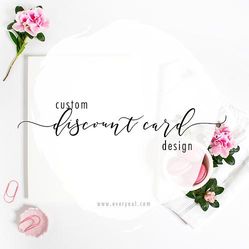 Custom Discount Card Design