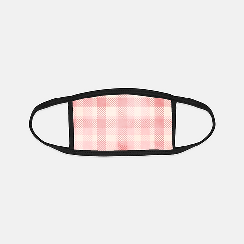 Valentine Flannel Pinks Black Edge Face Cover