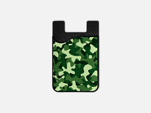 Green Camo Card Holder