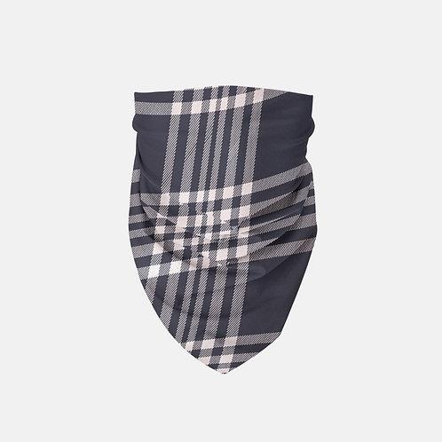 Navy + Blush Luxury Plaid Designer Bandana