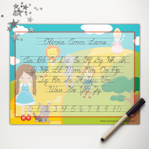 Yellow Brick Road Friends Writing Mat (light skin | cursive)