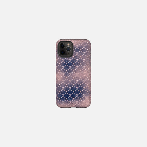 Blush + Navy Cotton Candy Mermaid Scales Designer Tough Case