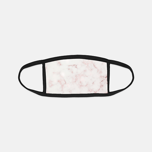 Rose Marble Black Edge Face Cover