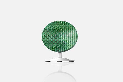 Emerald Pearl Mermaid Scales Wireless Charger