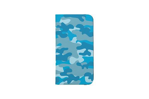 Blue Camo Folio Wallet Case