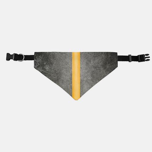 Distressed Thin Orange Line Pet Bandana Collar