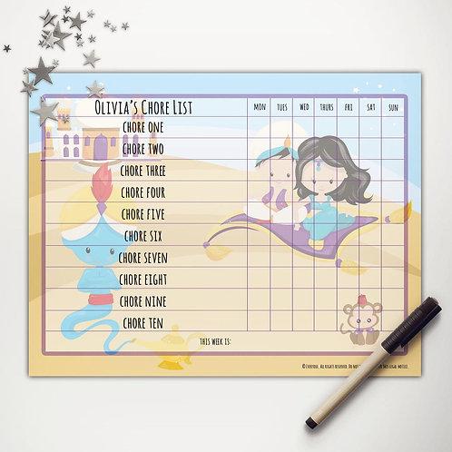 Arabian Palace Friends Basic Chore Chart