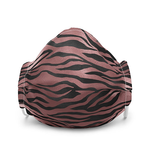 Luxury Safari Pink Tiger Premium Face Cover with Pocket