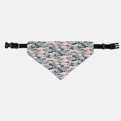 Camouflage Ori Blush Pet Bandana Collar