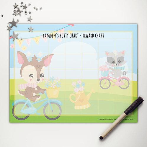 Spring Bicycle Friends Basic Reward Chart