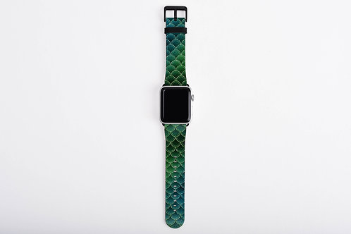 Sea Venom Glittered Mermaid Scales Designer Apple Watch Band