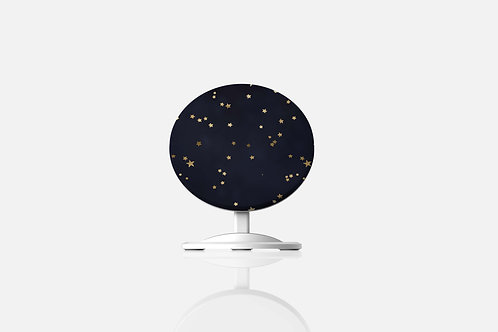 Navy + Gold Stars Wireless Charger