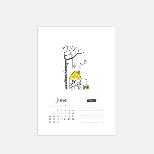 Whimsical Ye. June 2020 Full Sheet Calendar