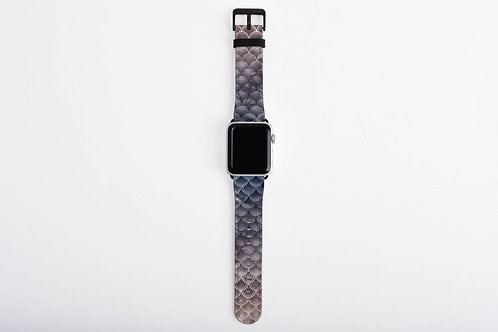 Blush + Navy Storm Mermaid Scales Designer Apple Watch Band