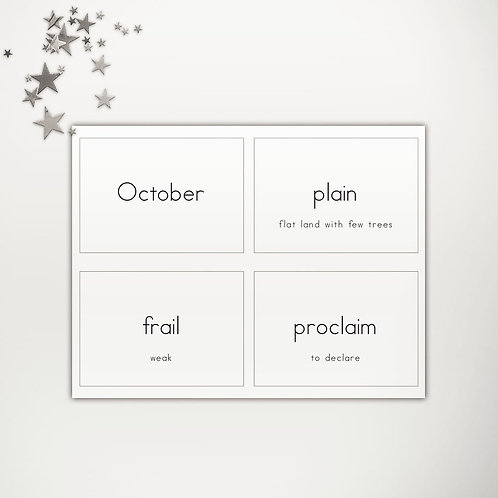 Grade 3 Spelling Flash Cards Lists 1-5 PowerPoint Template