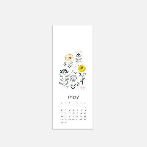 Whimsical Ye. May 2021 Half Sheet Calendar