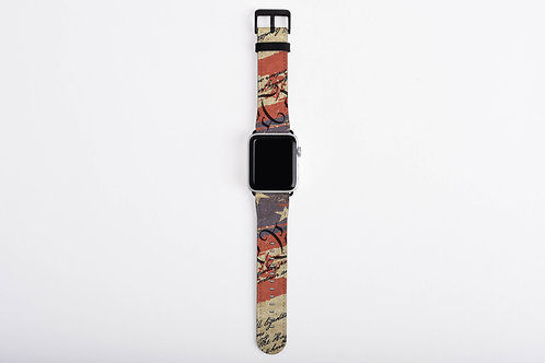 Script Patriotic United States We The People Designer Apple Watch Band
