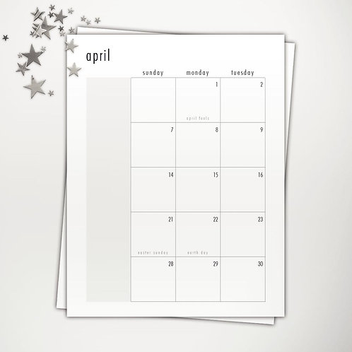 2019 Dated Classic Planner PowerPoint Template (month V1 | week V2)