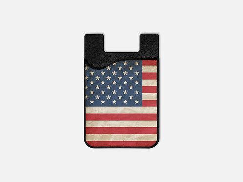Patriotic United States Flag Card Holder
