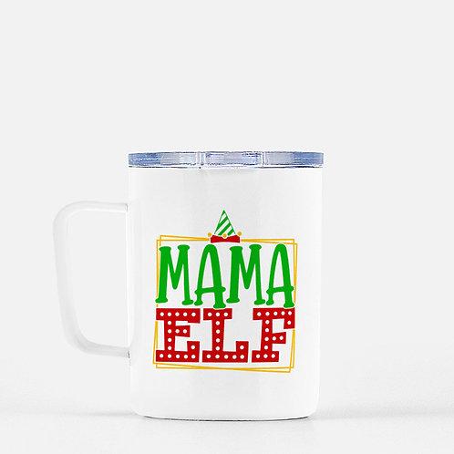 Mama Elf Winter Plus Vol. 1 Travel Mug + Lid