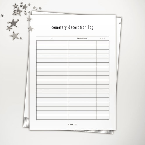 Cemetery Decoration Log PowerPoint Template